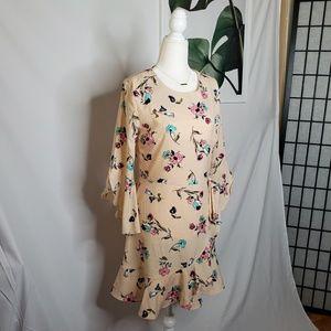 Revolve J. O. A. Boho Floral Flowy Tie Side Dress